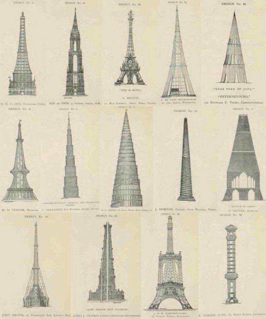Eyfel Kulesinin Reddedilen 14  Tasarımı